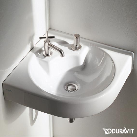 Duravit Architec Eck-Waschtisch weiß, mit 1 Hahnloch