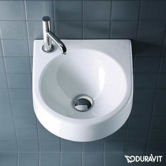 Duravit Architec Handwaschbecken weiß, mit WonderGliss, mit Hahnloch links