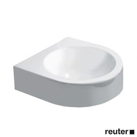 Duravit Architec Handwaschbecken weiß, mit WonderGliss, ohne Hahnloch