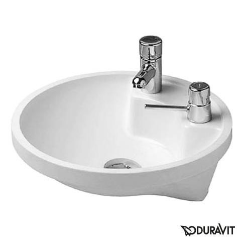 Duravit Architec Unterbau-Waschtisch mit Hahnlochbank weiß, mit Hahnloch, ohne Überlauf