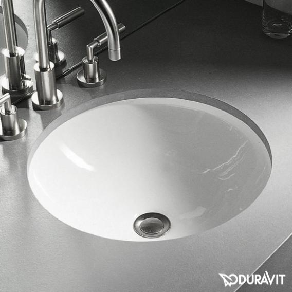 Duravit Architec Unterbau-Waschtisch, unten glasiert weiß, mit WonderGliss, ohne Hahnloch, ohne Überlauf
