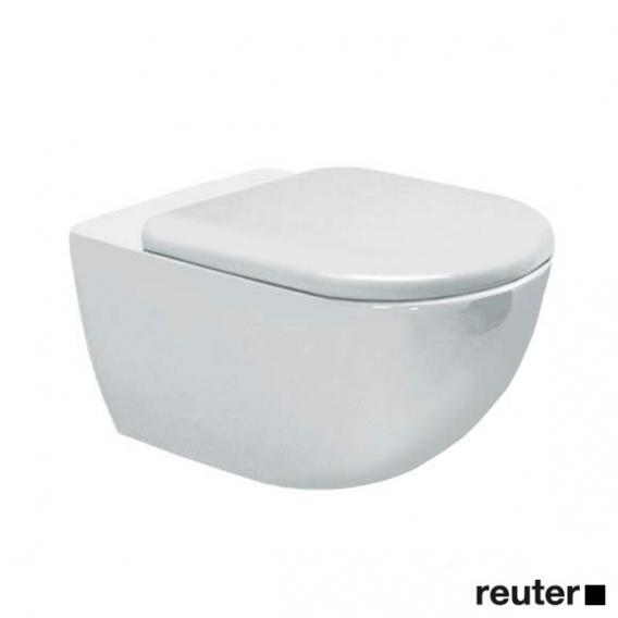 Duravit Architec Wand-Tiefspül-WC mit Spülrand, weiß, mit WonderGliss