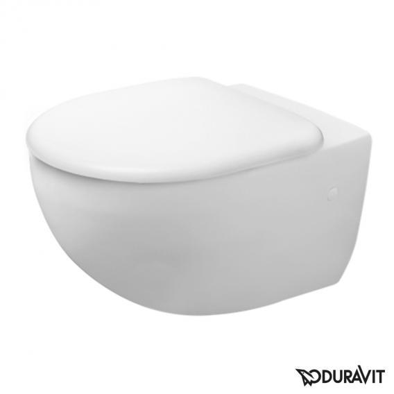 Duravit Architec Wand-Tiefspül-WC Set, rimless, mit WC-Sitz weiß