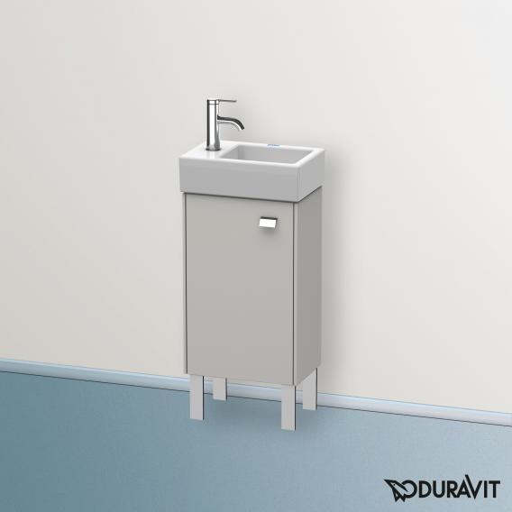 Duravit Brioso Handwaschbeckenunterschrank mit 1 Tür Front betongrau matt/Korpus betongrau matt, Griff chrom