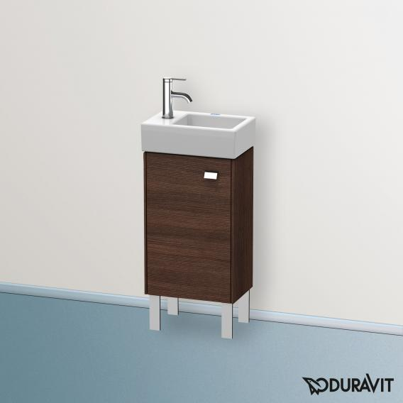 Duravit Brioso Handwaschbeckenunterschrank mit 1 Tür Front kastanie dunkel/Korpus kastanie dunkel, Griff chrom