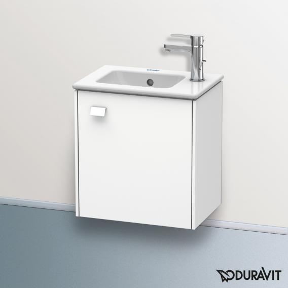 Duravit Brioso Handwaschbeckenunterschrank mit 1 Tür Front weiß matt/Korpus weiß matt, Griff weiß matt