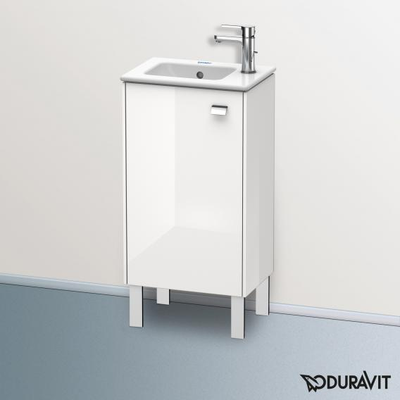 Duravit Brioso Handwaschbeckenunterschrank mit 1 Tür Front weiß hochglanz/Korpus weiß hochglanz, Griff chrom