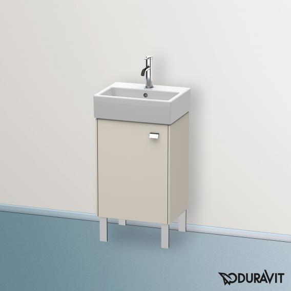 Duravit Brioso Handwaschbeckenunterschrank mit 1 Tür Front taupe matt/Korpus taupe matt, Griff chrom