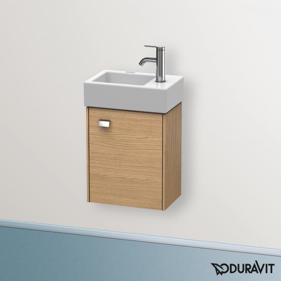 Duravit Brioso Handwaschbeckenunterschrank mit 1 Tür Front europäische eiche/Korpus europäische eich, Griff chrom