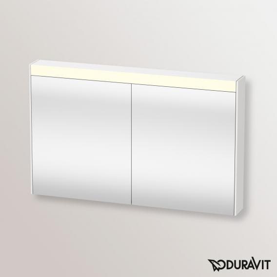 Duravit Brioso Spiegelschrank mit LED-Beleuchtung weiß hochglanz