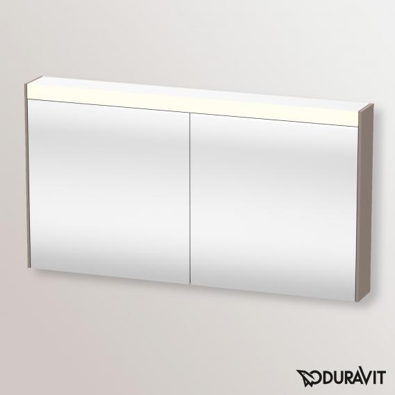Duravit Brioso Spiegelschrank mit LED-Beleuchtung basalt matt