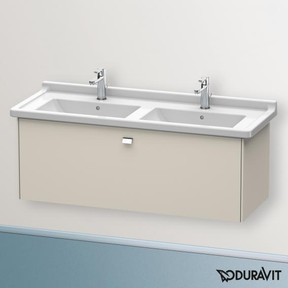 Duravit Brioso Waschtischunterschrank mit 1 Auszug Front taupe matt/Korpus taupe matt, Griff chrom