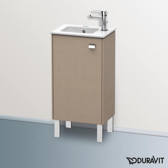 Duravit Brioso Waschtischunterschrank mit 1 Tür Front leinen/Korpus leinen, Griff chrom