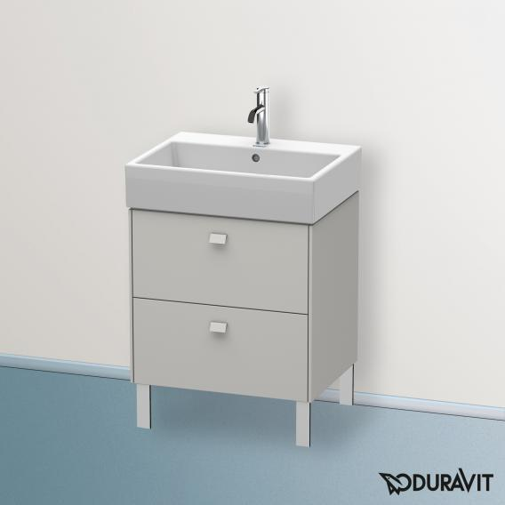 Duravit Brioso Waschtischunterschrank mit 2 Auszügen Front betongrau matt/Korpus betongrau matt, Griff betongrau matt
