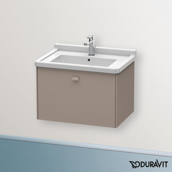 Duravit Brioso Waschtischunterschrank mit 1 Auszug Front basalt matt/Korpus basalt matt, Griff basalt matt