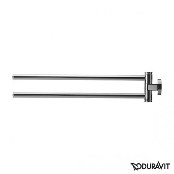 Duravit D-Code Handtuchhalter, 2-armig chrom