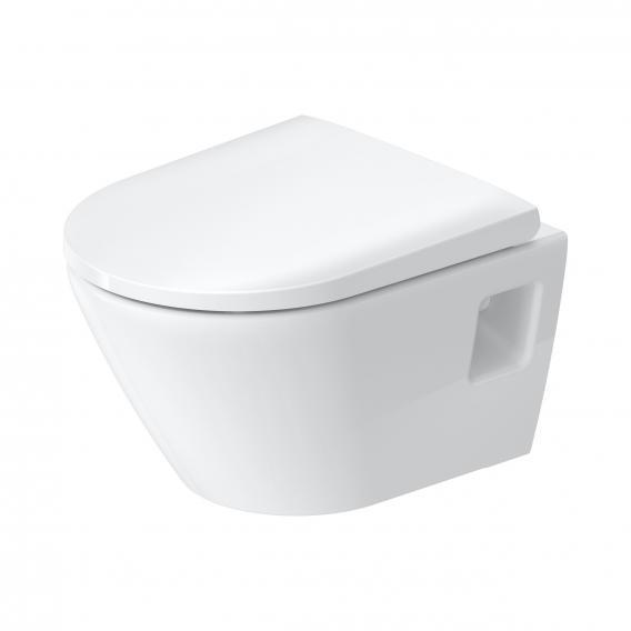 Duravit D-Neo Wand-Tiefspül-WC Compact, rimless weiß, mit HygieneGlaze