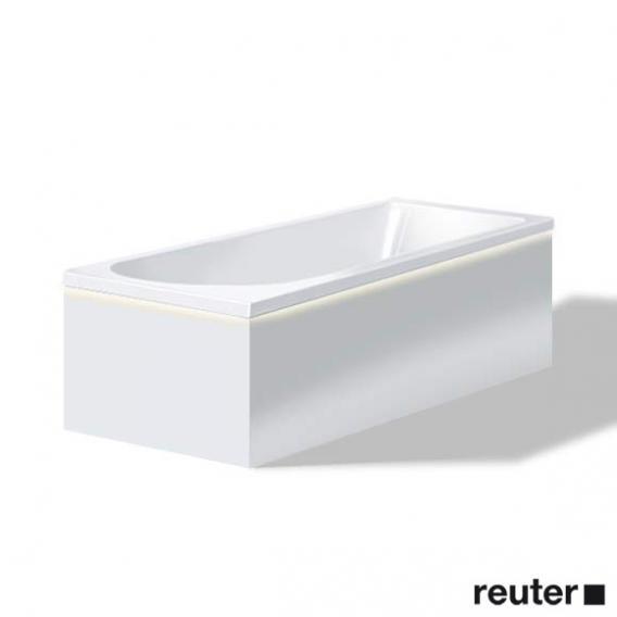Duravit Darling New Möbelverkleidung für Bade-/Whirlwanne mit LED, Vorwandversion weiß