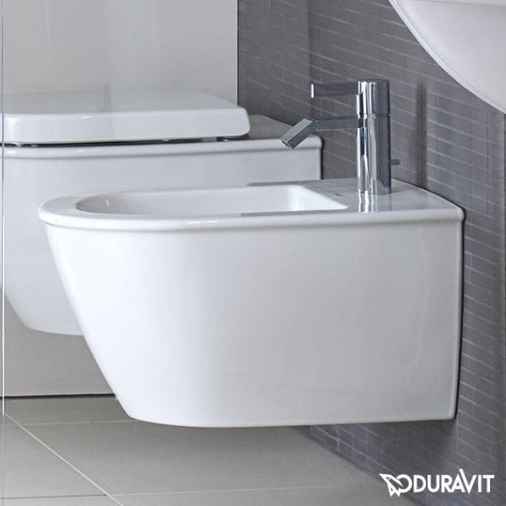Duravit Darling New Wand-Bidet Compact weiß WonderGliss mit Hahnloch