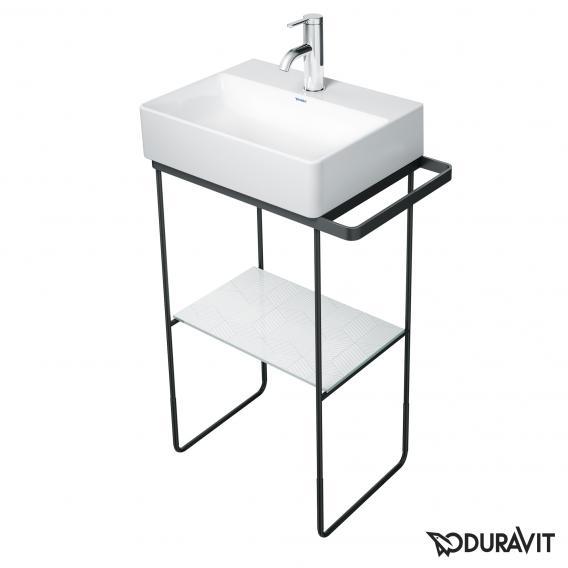Duravit DuraSquare Metallkonsole bodenstehend für Handwaschbecken 45 cm schwarz matt