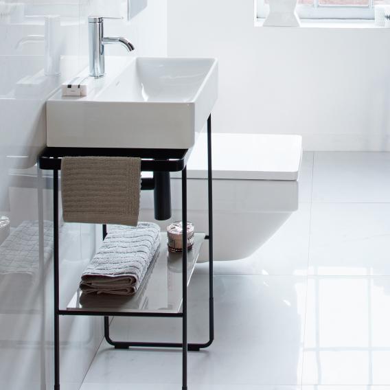 Duravit DuraSquare Metallkonsole bodenstehend für Handwaschbecken schwarz matt