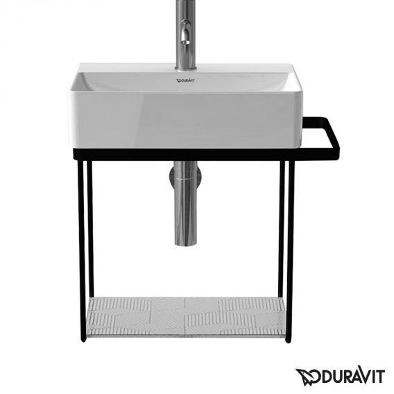 Duravit DuraSquare Metallkonsole wandhängend für Handwaschbecken 45 cm schwarz matt