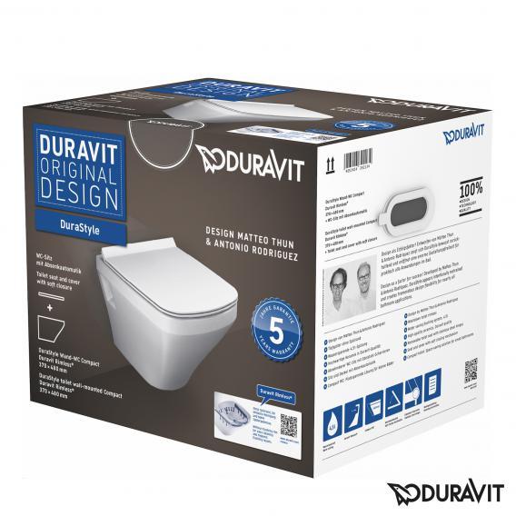 Duravit DuraStyle Compact Wand-Tiefspül-WC rimless Set