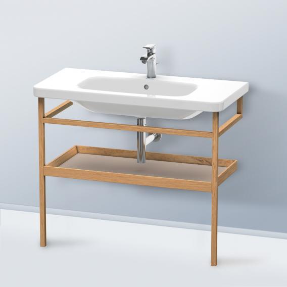 Duravit DuraStyle Möbel-Accessoire Handtuchhalter mit Ablage Korpus europäische eiche / Ablage basalt matt