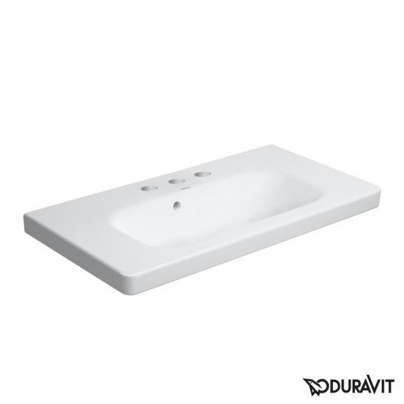 Duravit DuraStyle Möbelwaschtisch Compact weiß, mit 3 Hahnlöchern