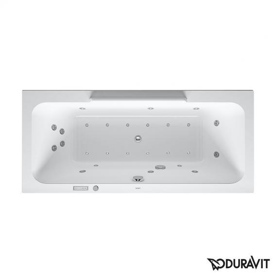 Duravit DuraStyle Rechteck-Whirlwanne mit LED-Beleuchtung, Einbauversion oder Wannenverkleidung, mit 2 Rückenschrägen mit Combi-System E