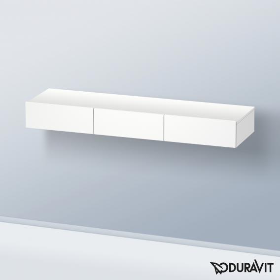 Duravit DuraStyle Schubkastenablage mit 3 Auszügen Front weiß matt / Korpus weiß matt
