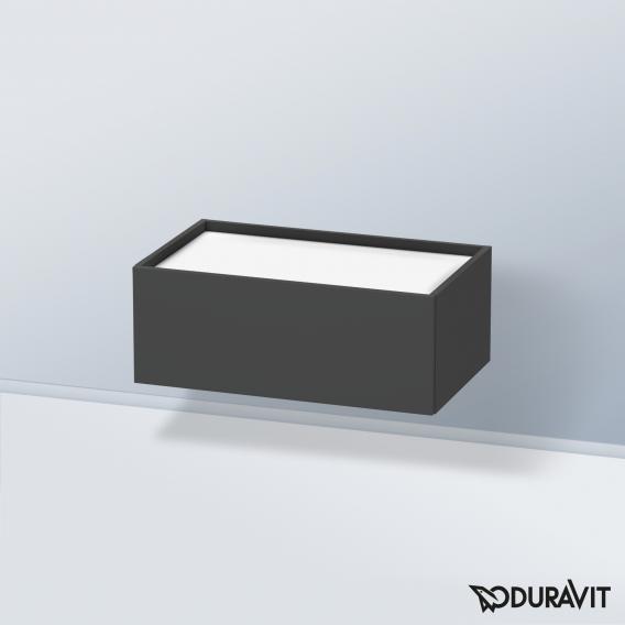 Duravit DuraStyle Unterschrank mit 1 Auszug Front graphit matt / Korpus graphit matt