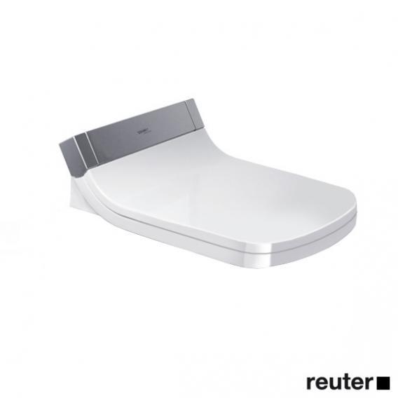 Duravit DuraStyle Wand-Tiefspül-WC mit SensoWash® Starck e WC-Sitz, Set mit Spülrand, weiß mit WonderGliss