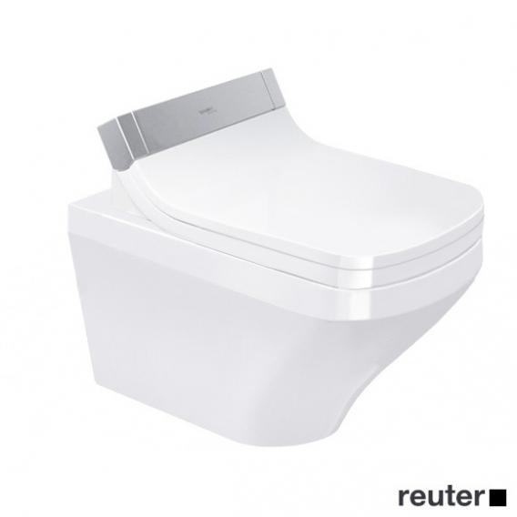 Duravit DuraStyle Wand-Tiefspül-WC mit SensoWash® Starck e WC-Sitz, Set ohne Spülrand, weiß mit WonderGliss