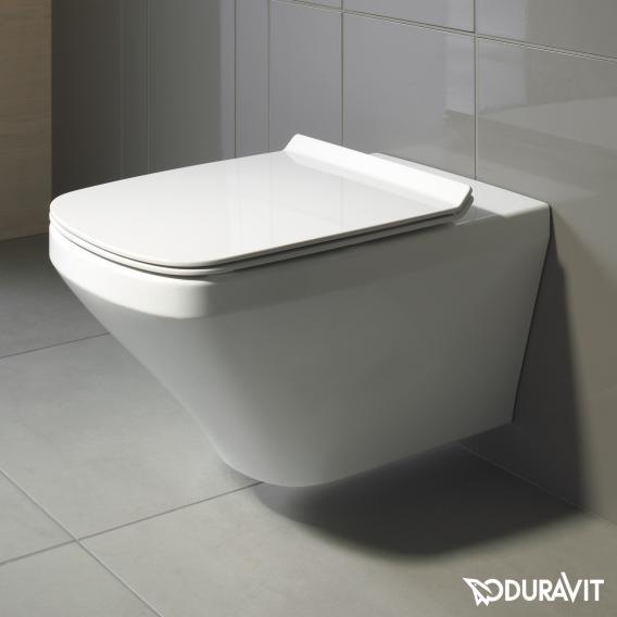Duravit DuraStyle Wand-Tiefspül-WC Set, rimless, mit WC-Sitz weiß