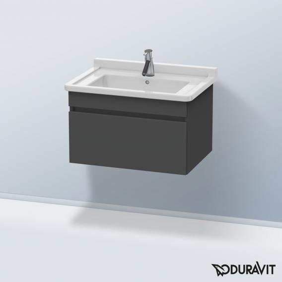 Duravit DuraStyle Waschtischunterschrank mit 1 Auszug Front graphit matt / Korpus graphit matt