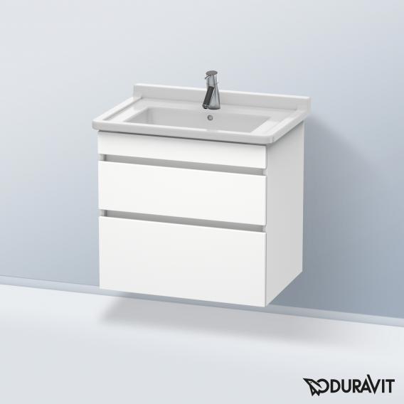 Duravit DuraStyle Waschtischunterschrank mit 2 Auszügen Front weiß matt / Korpus weiß matt