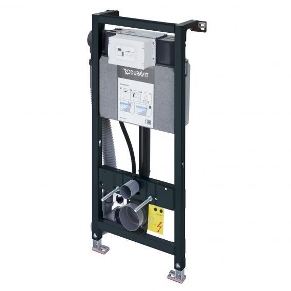 Duravit DuraSystem Wand-WC-Montageelement, H: 114,8 cm, mit Geruchsabsaugung und Hygienespülung