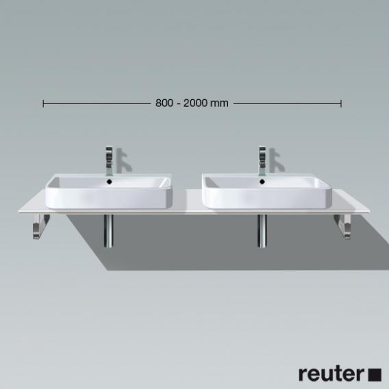 Duravit Happy D.2 Konsole Vorwand für 2 Aufsatz-/Einbauwaschtische weiß hochglanz