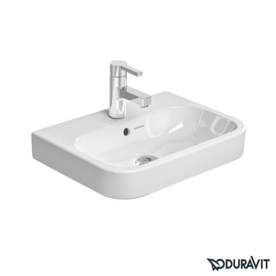 Duravit Happy D.2 Möbel-Handwaschbecken weiß, mit WonderGliss, mit 1 Hahnloch