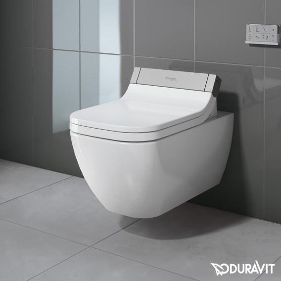 Duravit Happy D.2 Wand-Tiefspül-WC für SensoWash® rimless, verlängerte Ausführung weiß mit WonderGliss