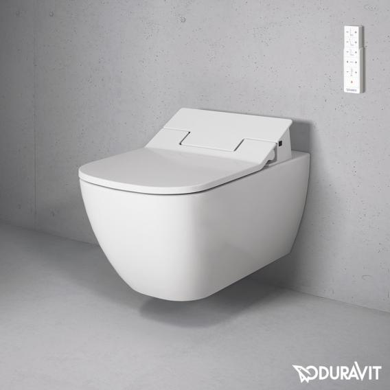 Duravit Happy D.2 Wand-Tiefspül-WC Rimless mit SensoWash® Slim WC-Sitz, Set weiß mit WonderGliss