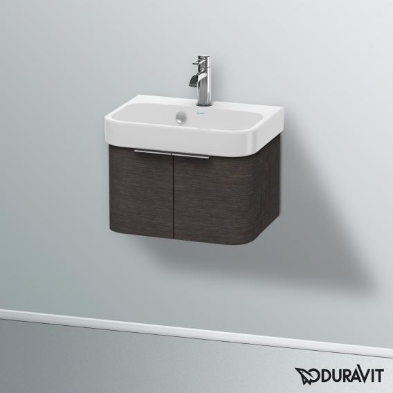 Duravit Happy D.2 Waschtischunterschrank mit 2 Türen Front eiche dunkel gebürstet / Korpus eiche dunkel gebürstet