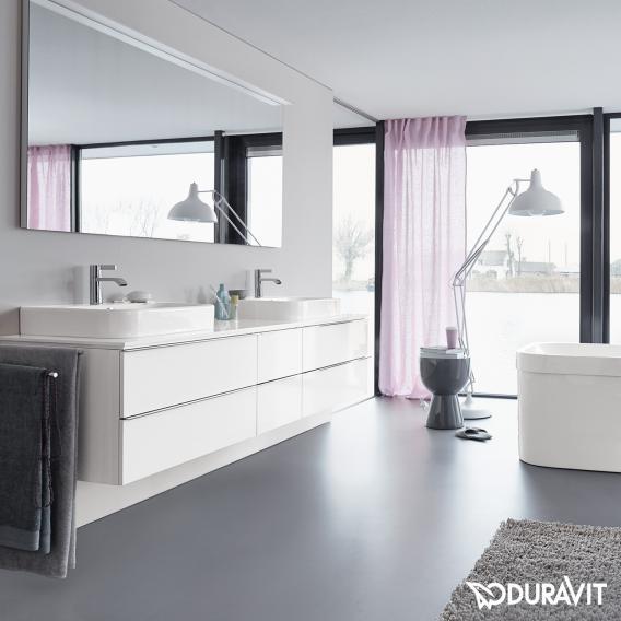 duravit happy d 2 waschtischunterschrank f r konsole mit 2 ausz gen front wei hochglanz. Black Bedroom Furniture Sets. Home Design Ideas