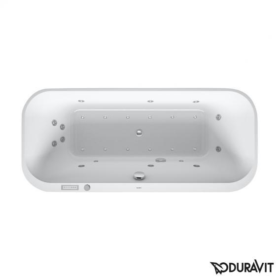 Duravit Happy D.2 Ovale Whirlwanne mit LED-Beleuchtung, Einbauversion mit Combi-System E