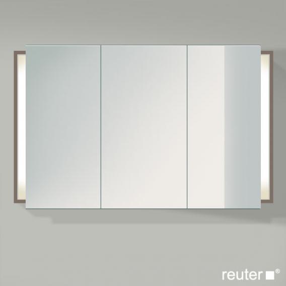 Duravit Ketho Spiegelschrank mit Beleuchtung basalt matt