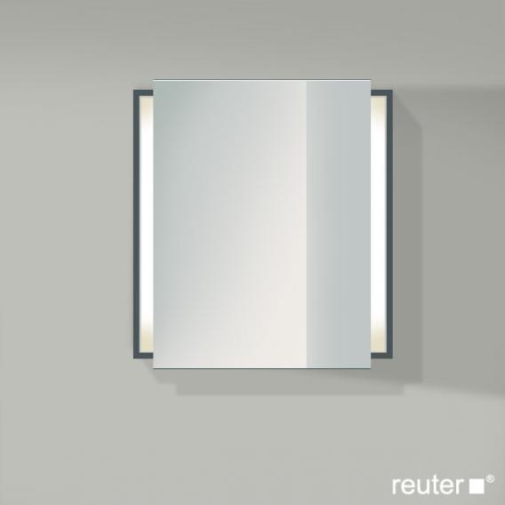 Duravit Ketho Spiegelschrank mit Beleuchtung graphit matt