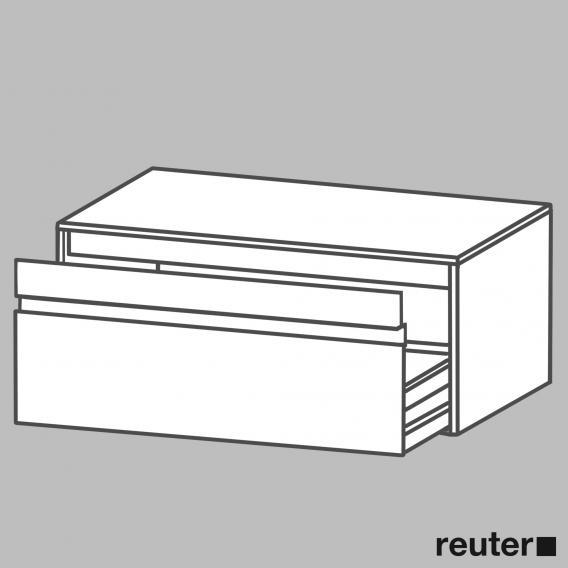 Duravit Ketho Waschtischunterschrank mit 1 Auszug ohne Ausschnitt Front graphit matt / Korpus graphit matt