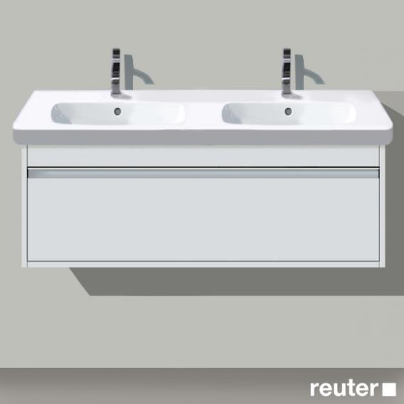 Duravit Ketho Waschtischunterschrank mit 1 Auszug für Doppelwaschtisch Front weiß matt / Korpus weiß matt