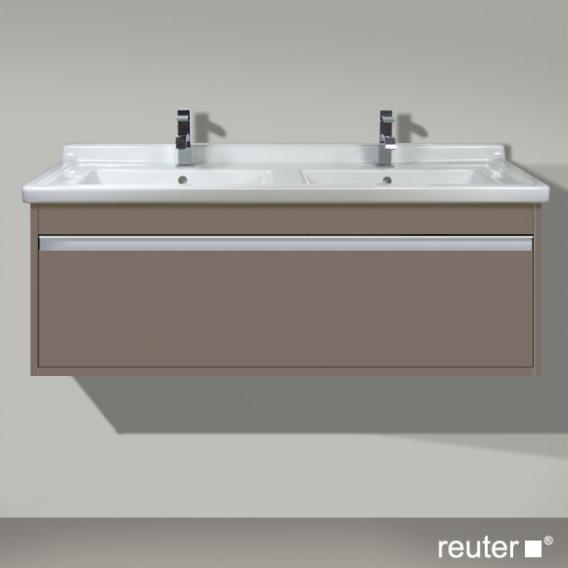 Duravit Ketho Waschtischunterschrank mit 1 Auszug für Doppelwaschtisch Front basalt matt / Korpus basalt matt